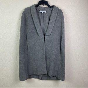 Cupcakes & Cashmere XS Gray Cape Coat Jacket